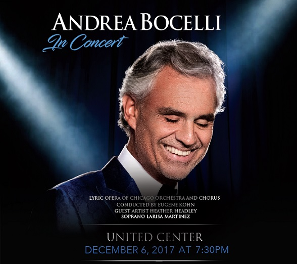 windycitylive andrea bocelli tickets sweepstakes infinite sweeps. Black Bedroom Furniture Sets. Home Design Ideas