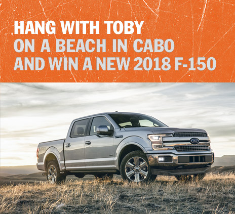 toby keith 39 s stays in mexico sweepstakes presented by. Black Bedroom Furniture Sets. Home Design Ideas