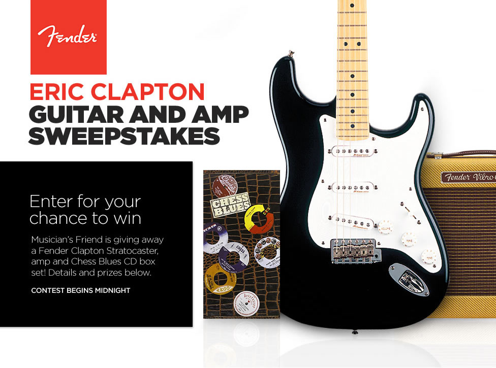 musicians friend sweepstakes the musician s friend 171 fender eric clapton guitar and amp 9807