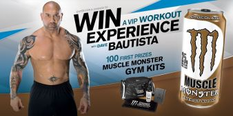 Muscle Monster® Chance to Win a VIP Workout Experience with Dave Bautista Sweepstakes