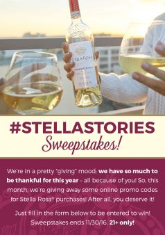 Stella Rosa Wines Sweepstakes