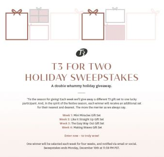 t3 Micro Sweepstakes