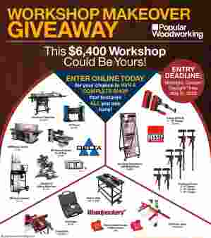 Popular Woodworking · Workshop Makeover Giveaway Sweepstakes