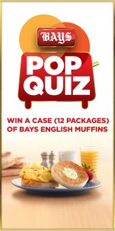 Bays English Muffins Sweepstakes