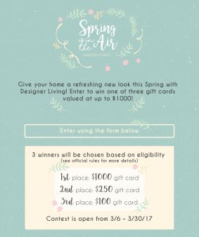 DesignerLiving Sweepstakes
