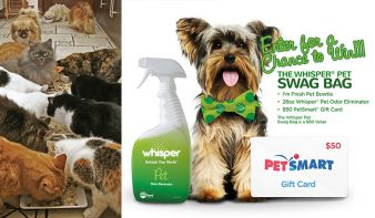 Whisper Pet Sweepstakes