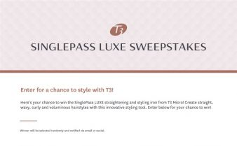 T3 Sweepstakes