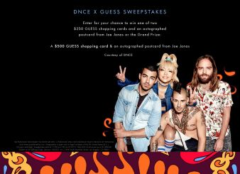 GUESS & DNCE SWEEPSTAKES Sweepstakes