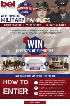 BEL Furniture Sweepstakes