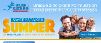 Blue Lizard Sunscreen Sweepstakes