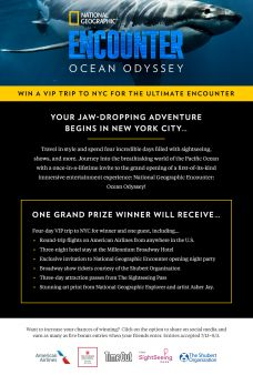 National Geographic ENCOUNTER: Ocean Odyssey Sweepstakes Sweepstakes