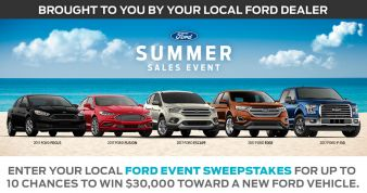 Ford Summer Sales Event Sweepstakes Sweepstakes