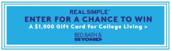 REAL SIMPLE · Campus Living Solutions Sweeps Sweepstakes
