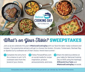 Pots and Pans Sweepstakes