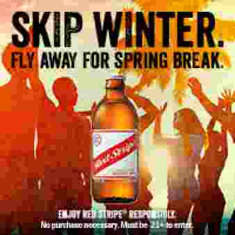 RED STRIPE SKIP THE WINTER PROMOTION Sweepstakes