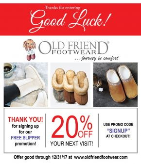 Old Friend Footwear Sweepstakes