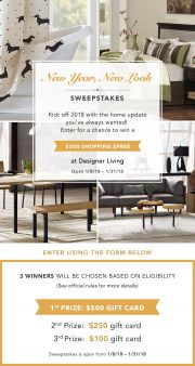 Designer Living Sweepstakes