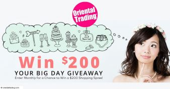 Oriental Trading Company · Your Big Day Giveaway Sweepstakes