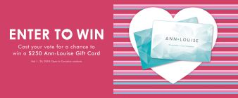 Ann-Louise Jewellers Sweepstakes