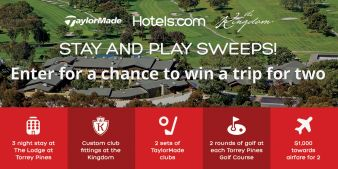 Hotels.com and TaylorMade Sweepstakes