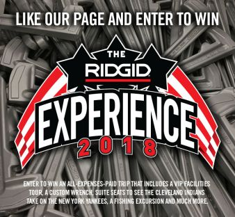 RIDGID Experience Contest Sweepstakes