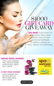 Spa Week Sweepstakes
