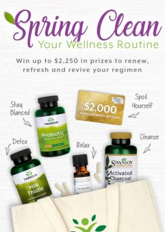 Swanson Vitamins · Spring Sweeps Sweepstakes