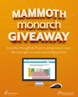 Alpha Omega Publications Homeschool Division · Monarch Giveaway Sweepstakes