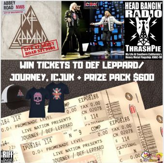 Win 2 Def Leppard/Journey Tickets Of Your Choice, ICJUK + Prize Pack $600 Sweepstakes