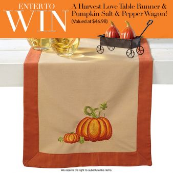 Lillian Vernon · Thanksgiving Table Decor Giveaway Sweepstakes