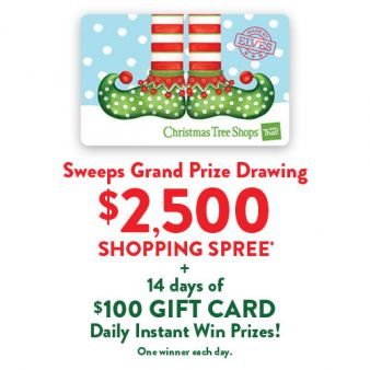 Christmas Tree Shops And That! Sweepstakes