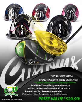 GolfHQ · Callaway Custom Epic Flash Driver Giveaway Sweepstakes