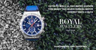 Royal Jewelers · Tom Brady Tag Heuer Carrera Watch Giveaway Sweepstakes