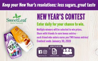 SweetLeaf Stevia · New Year's Contest Sweepstakes