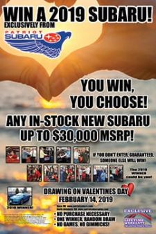 Patriot Subaru Of Saco Sweepstakes
