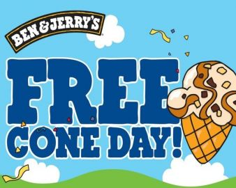 Ben & Jerry's Free Cone Day & Free Ice Cream for a YEAR! Sweepstakes
