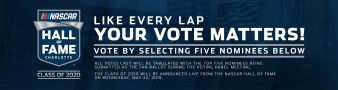 NASCAR Hall Of Fame Voting Promotion  Sweepstakes