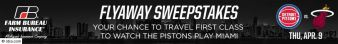 Detroit Pistons and Farm Bureau Insurance Flyaway Sweepstakes Sweepstakes