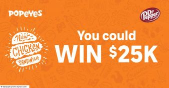 Popeyes $25k Giveaway Sweepstakes