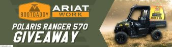 BootDaddy Ariat Work Polaris Ranger Giveaway Sweepstakes