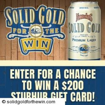Founders Solid Gold For The Win Sweepstakes Sweepstakes