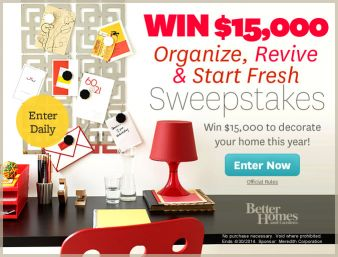 Better Homes & Gardens $15,000 Organize Sweepstakes Sweepstakes
