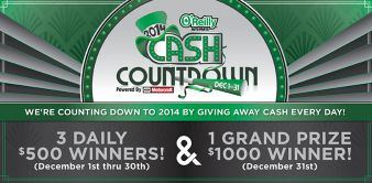 O'Reilly Auto Parts Sweepstakes