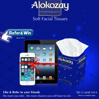 Alokozay Tissues Sweepstakes