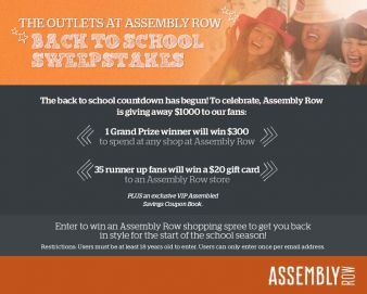 Assembly Row At Assembly Square Sweepstakes
