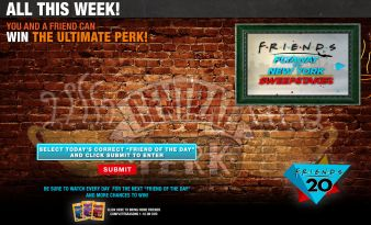 """Friends Flyaway to New York Sweepstakes"" Sweepstakes"