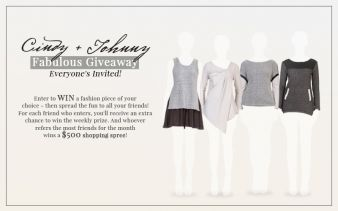 Cindy + Johnny Fabulous Giveaway Sweepstakes