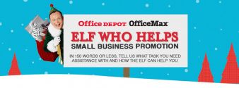 Elf Who Helps Small Business from Office Depot® and OfficeMax® Sweepstakes