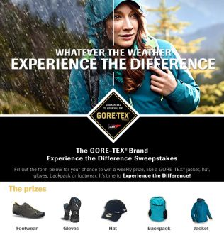 GORE-TEX Products North America Sweepstakes