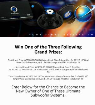 Planet Audio Sweepstakes
